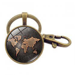 Beautiful Black Map Key Chain -