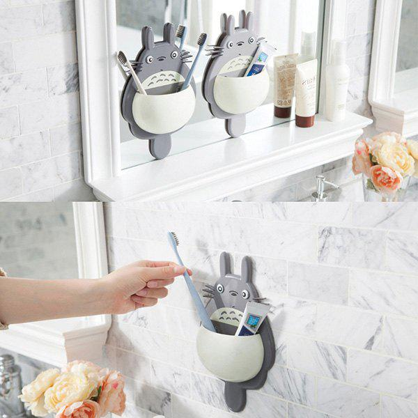Cheap Three Suction Cups Multipurpose Toothbrush Holder for Storage