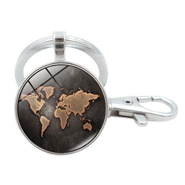 Outfit Beautiful Black Map Key Chain