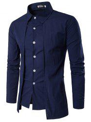 Trendy Business Solid Color Long Sleeve Shirt for Men -