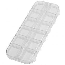 Multipurpose Transparent Plastic Case With Small Compatments for Storage -