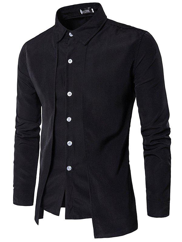 Buy Trendy Business Solid Color Long Sleeve Shirt for Men