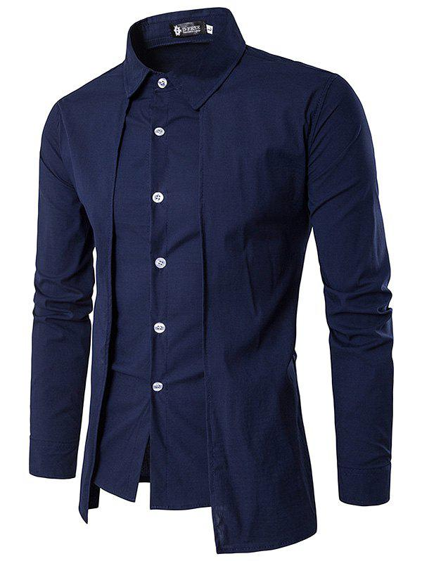 Store Trendy Business Solid Color Long Sleeve Shirt for Men