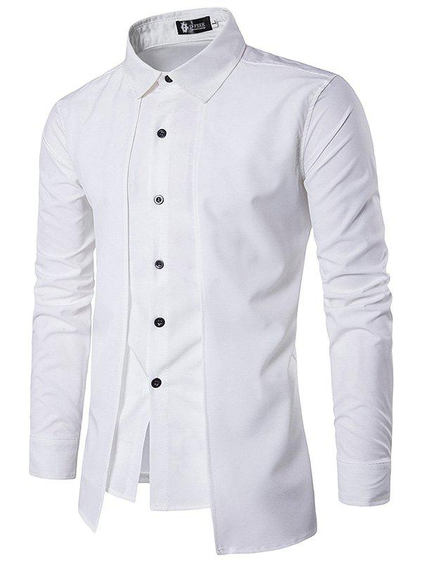 Outfit Trendy Business Solid Color Long Sleeve Shirt for Men