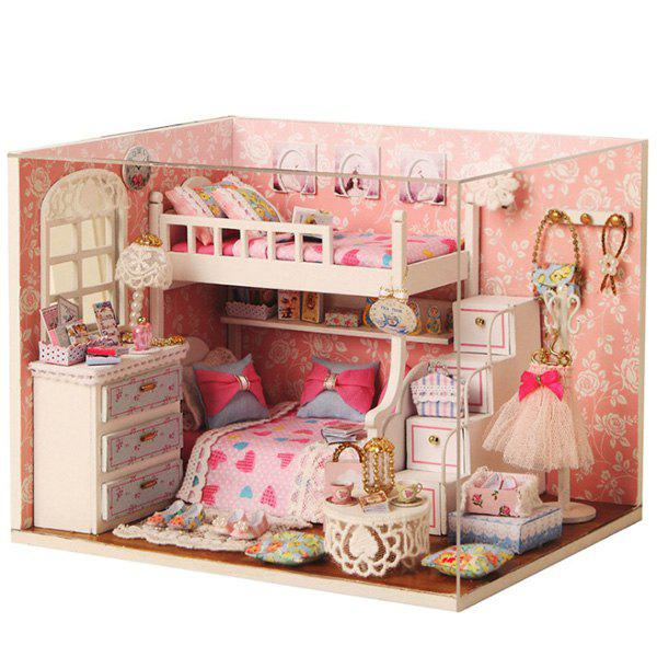 Outfit DIY Created Cute House Model Block Toy