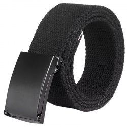 Unisex Leisure Canvas Belt with Smoothing Buckle -