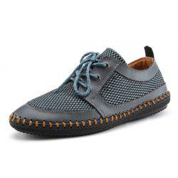 Men Outdoor Casual Mesh Comfortable Breathable Leather Shoes -