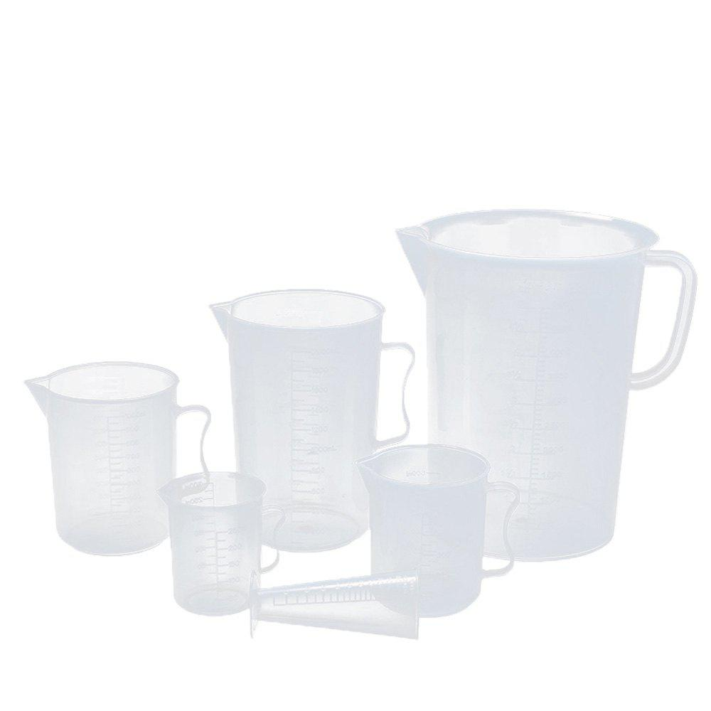Trendy Transparent Thickened Scale Food-grade Plastic Measuring Cup 6pcs