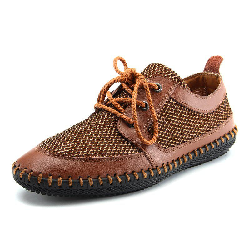 Outfit Men Outdoor Casual Mesh Comfortable Breathable Leather Shoes
