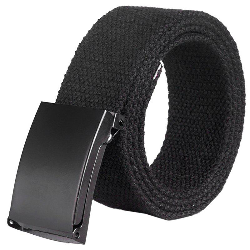 Fancy Unisex Leisure Canvas Belt with Smoothing Buckle