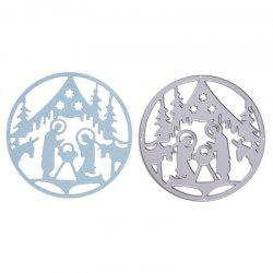 Christmas Pattern Metal Stencil Mould DIY Carbon Steel Cutting Die -