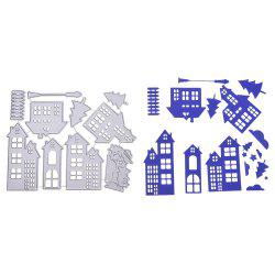 Christmas House Metal Stencil Mould DIY Carbon Steel Cutting Die for Craft Cards -