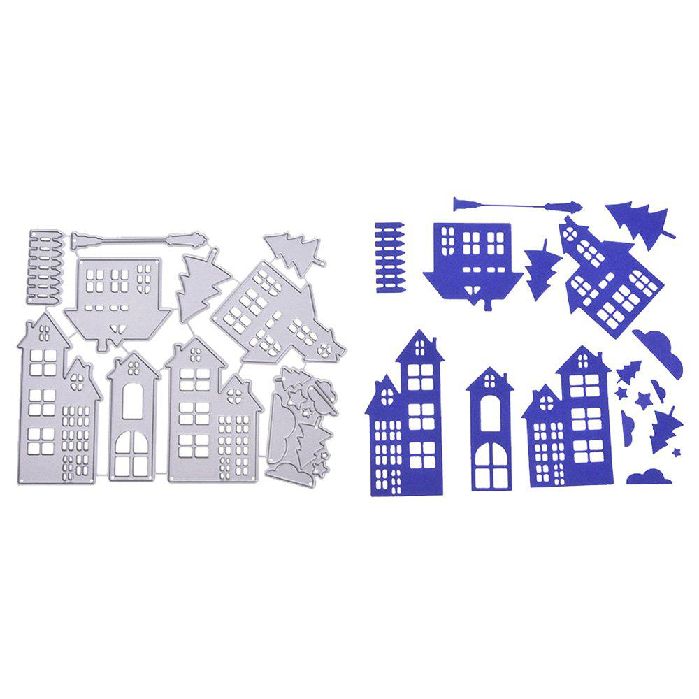 Online Christmas House Metal Stencil Mould DIY Carbon Steel Cutting Die for Craft Cards