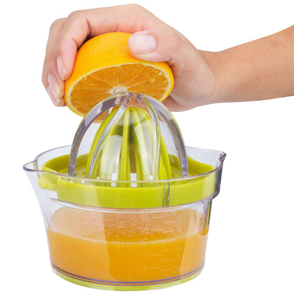 Multifunctional Manual Hand Lemon Orange Juicer with Measuring Cup Egg Separator Garlic Grater