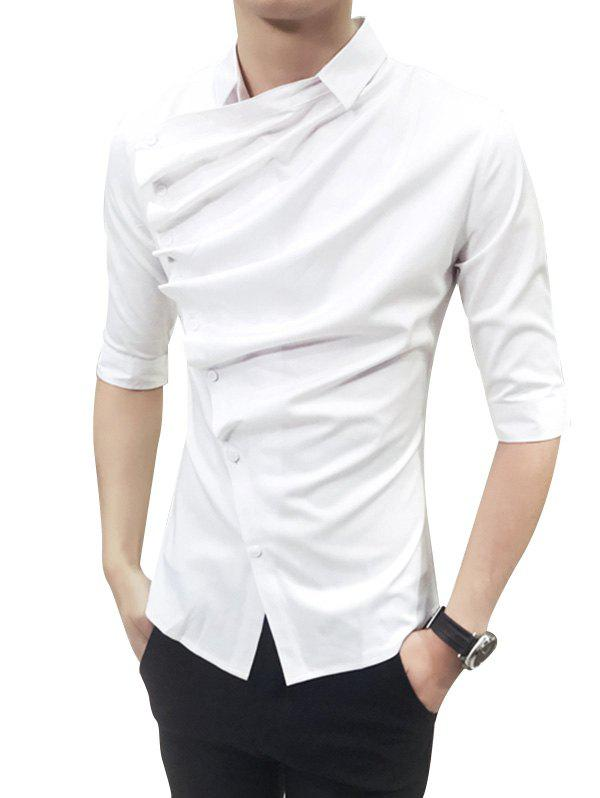 New Male Korean Version Trim Shirt with Middle Sleeve
