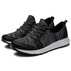 Men Lace Up Casual Net Fabric Athletic Sports Sneakers -