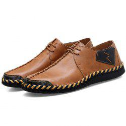 Fashion Durable Lace-up Casual PU Flat Shoes for Men -