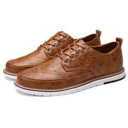 Men PU Leather Business Casual Oxford Shoes -