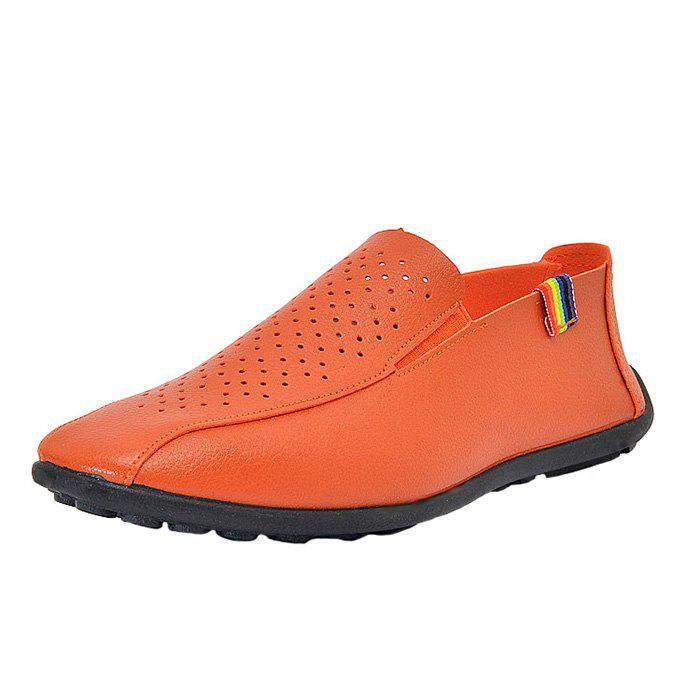 Trendy Men Breathable Flat Fashionable Leather Shoes