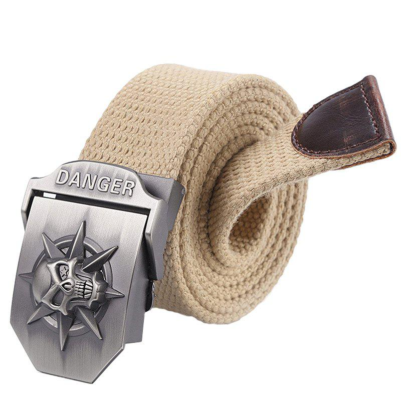 Trendy Thickened Canvas Belt with Automatic Buckle for Men