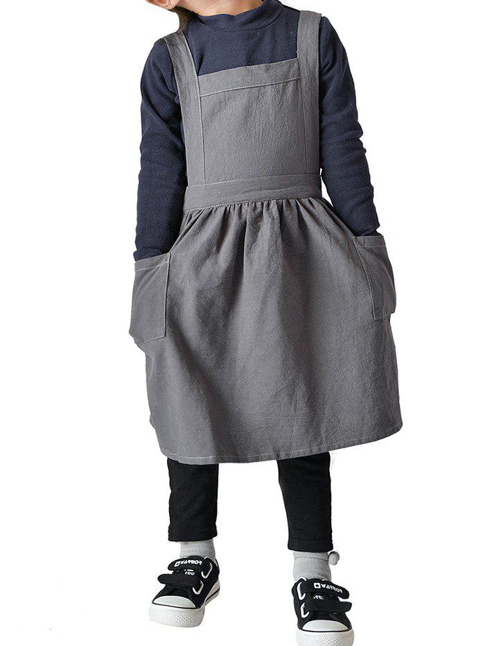Outfit Children Cotton Linen Apron for Cooking Baking