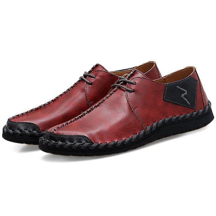 Shop Fashion Durable Lace-up Casual PU Flat Shoes for Men