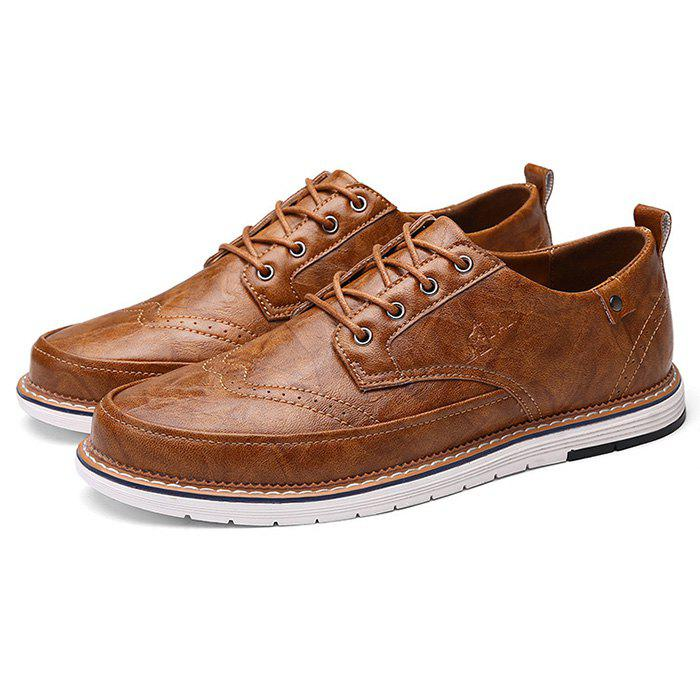 Chic Men PU Leather Business Casual Oxford Shoes