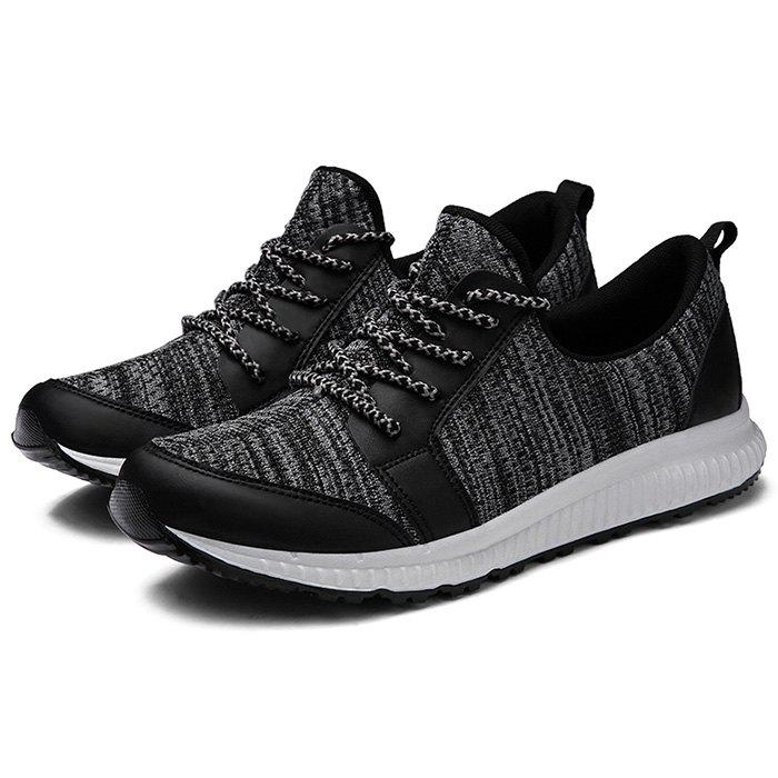 Online Men Lace Up Casual Net Fabric Athletic Sports Sneakers