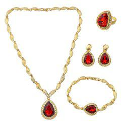 Fashion Artificial Rhinestone Jewelry Set -