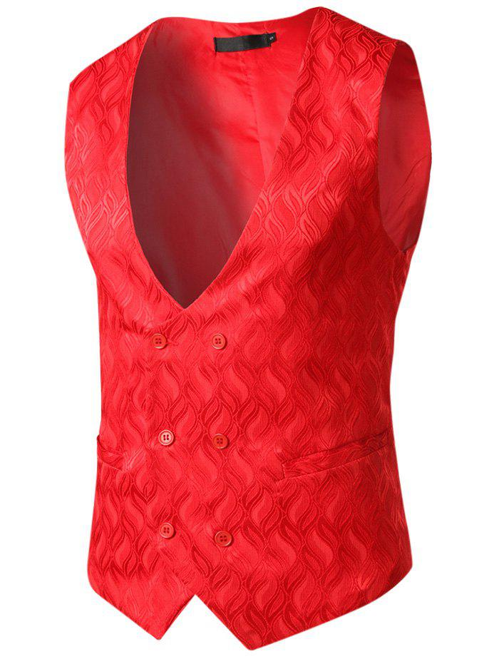 Fashion Flame and Flower Waistcoat for Men