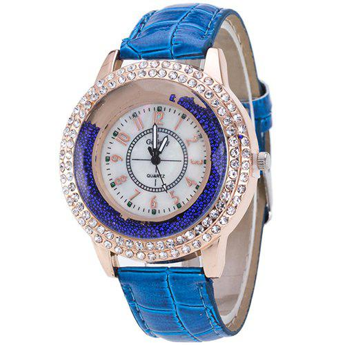 ZhouLianFa Casual Leather Band - Montre unisexe créative à quartz