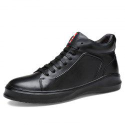 Male Genuine Leather Casual Anti-slip Warm Shoes Boots -