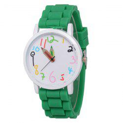 ZhouLianFa Casual Silicone Band Durable unisexe montre à quartz -