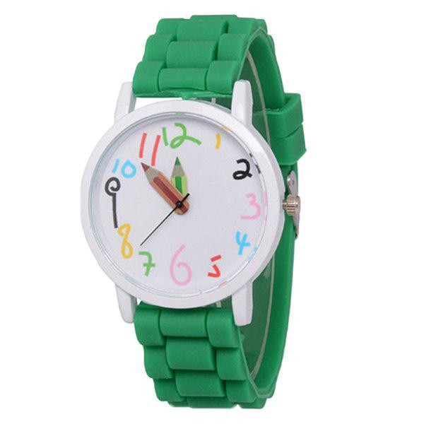 ZhouLianFa Casual Silicone Band Durable unisexe montre à quartz