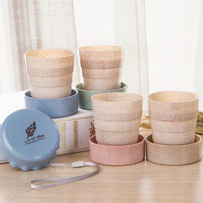 Chic Foldable Wheat Cup for Travel