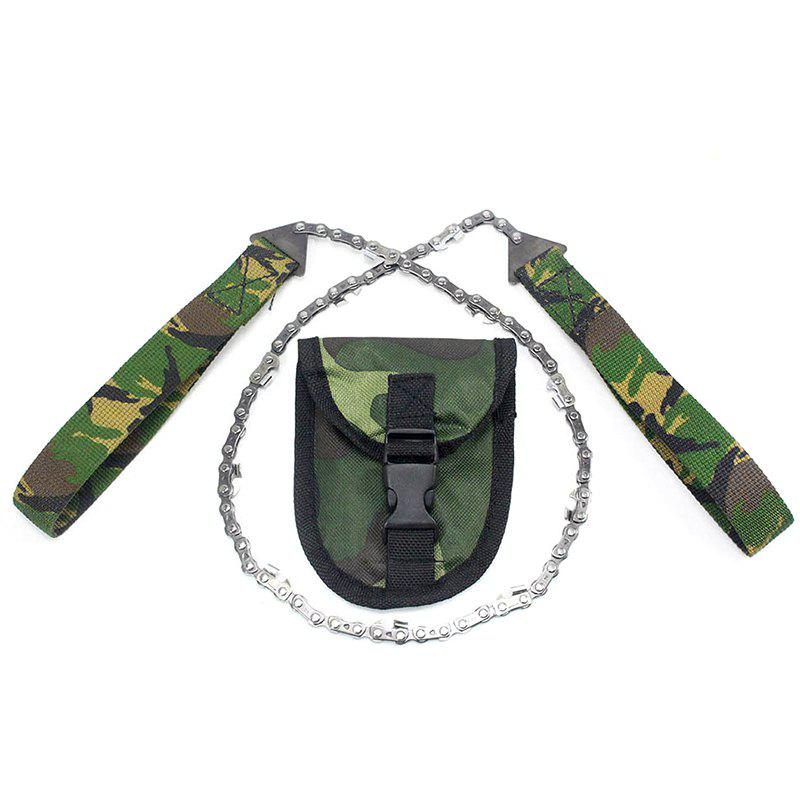 Outfit A124 Portable Camouflage Line Wire Chain Saw for Hiking Hunting Camping Emergency Survival Tool