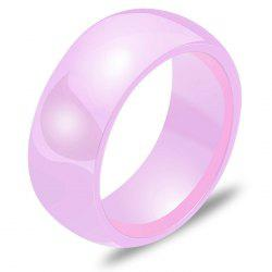 111021 Women Fashion Elegant Ceramic Solid Color Ring -