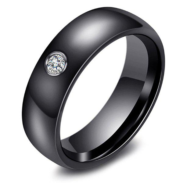 Fancy 111025 Women Fashion Elegant Ceramic Solid Color Ring with Rhinestone