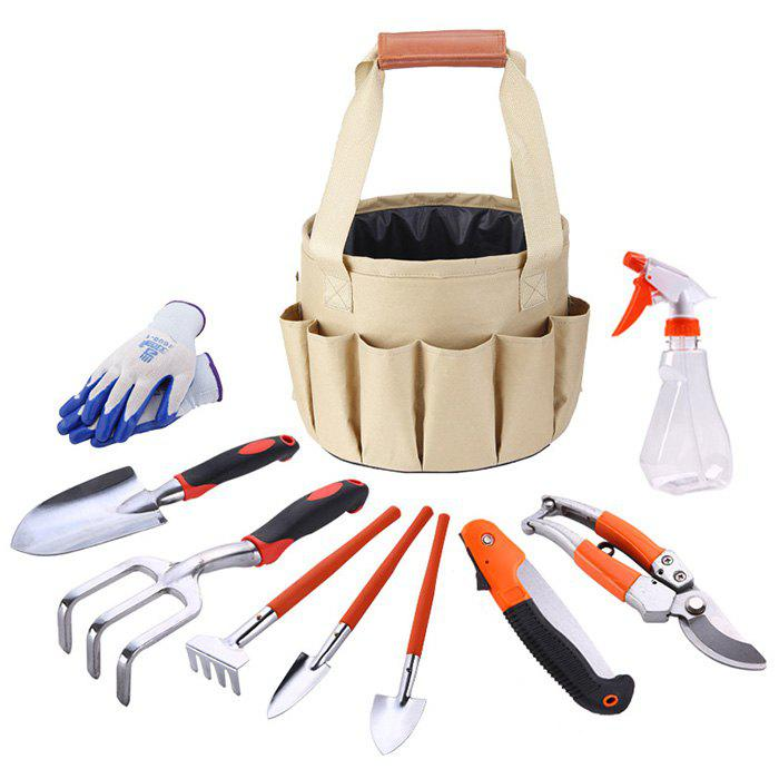 Shops Portable Gardening Tool Kit with Canvas Bucket Storage Bag