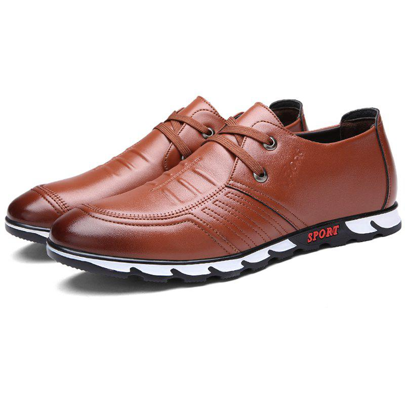 Store Lace Up Microfibre Leather for Men