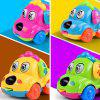 Funny Cartoon Puppy Clockwork Car Educational Toys -