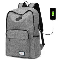 USB Charging Port Design Man Backpack -