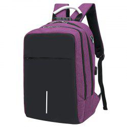 USB Port Design Man Backpack -