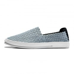 Male Weaving Mesh Cloth Slip-on Shoes -