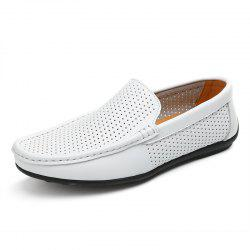 Male Casual Hollow Leather Shoes -