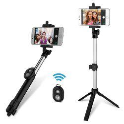 gocomma 3 in 1 Handheld Extendable Bluetooth Selfie Stick Tripod  Monopod Remote for iOS iPhone Android Smart Phone -