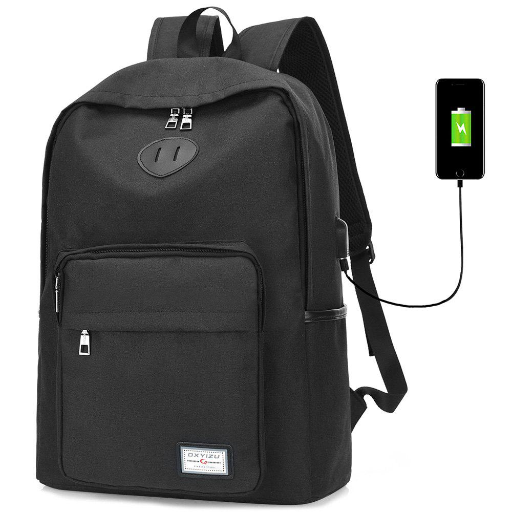 Cheap USB Charging Port Design Man Backpack