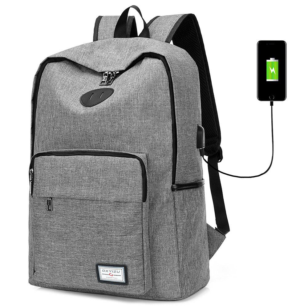 New USB Charging Port Design Man Backpack
