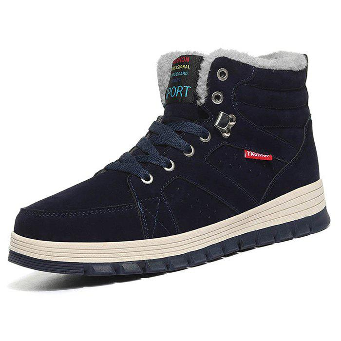 New Outdoor Comfortable Casual Leather High-top Snow Boots for Men