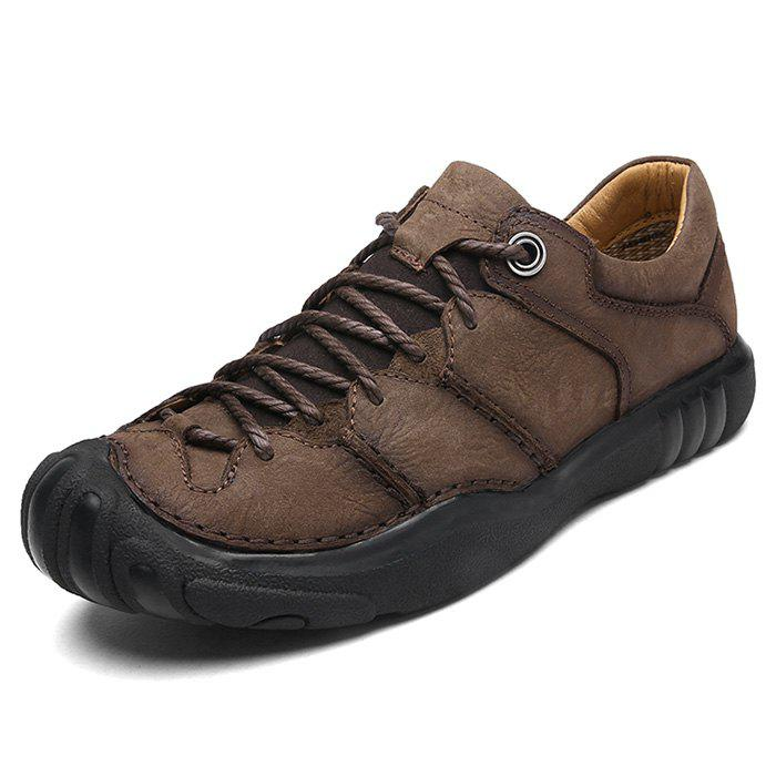 Discount Leisure Outdoor Comfortable Leather Hiking Casual Shoes for Men